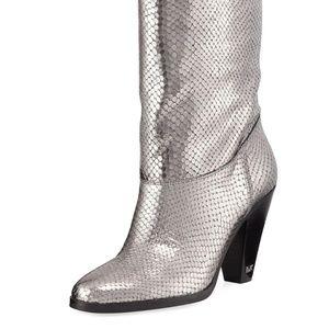 Michael Kors Divia Diamond Metallic Leather Boots